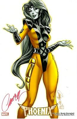 "J. Scott Campbell X-Men Gold Phoenix Sdcc 2018 Art Print Signed 11""X17"""