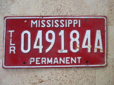 "Mississippi ""Permanent"" License Plate - Free Shipping -"