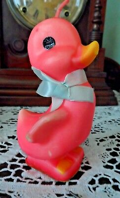 "4.5"" Pink Easter Duck Gurley Candle Unlit  Very Good Condition"