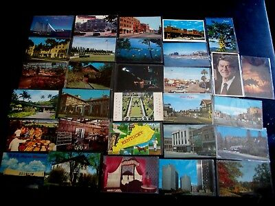 Lot of 30 Chrome postcards US cities  Lot-7