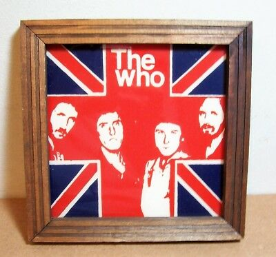 The Who on Glass Carnival Framed