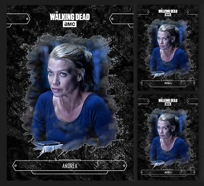 3x ANDREA-ECHOES-BLACK-TOPPS WALKING DEAD CARD TRADER