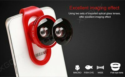 4 in 1 Camera Lens Kit Fish Eye + Wide Angle + Macro For Samsung Note 1 2 3/iPad