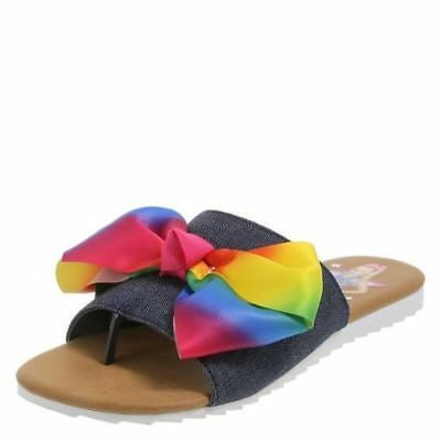 310094769352 JOJO SIWA RAINBOW 🌈 Bow Shoes Slides Sandals Girls Size 5 -  28.99 ...