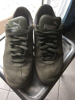 finest selection b561b 926b3 PREOWNED PUMA LIGA Suede Classic Forest Night-Rifle Green and Black SIZE 11  US