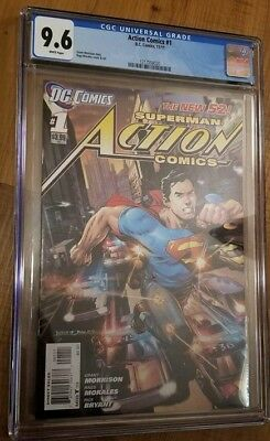 Superman Action Comics #1 9.6 CGC The New 52 1 Issue DC Comics NM+ Graded