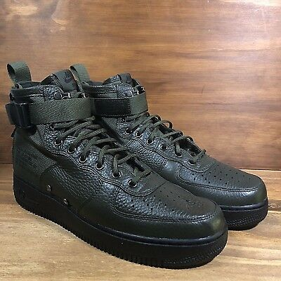 Nike SF AF1 Mid Sequoia Black, Olive Green Air Force One [917753-300] Multi Size