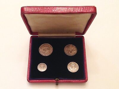 - Great Britain 1907 Edward VII Boxed Maundy Set with Original Dated Case