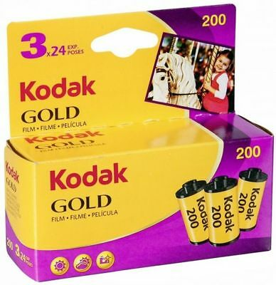 Kodak Gold 200/24 3 Films Mhd / Expiry Date 02/2020 New Goods