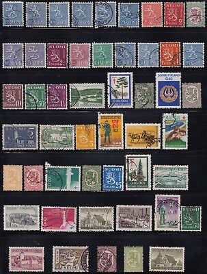 Finland page of early stamps #2