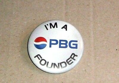 PEPSI Button / Pin - I'm a PBG Founder