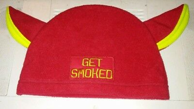 GET SMOKED PERSONA 5 Hat Shinya Oda Red Cap Cosplay Party Flexfit ... 41493f9e558