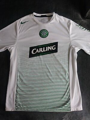 5a81f62cf Nike Dri Fit Perforated Carling Celtic Football Club White Soccer Jersey  Large