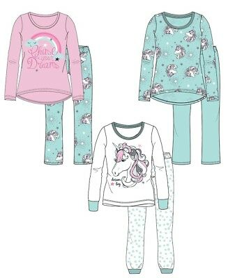 Girls Baby Toddler Children Unicorns Pyjama Pjs Set Age 2-8 years NEW 2018/19