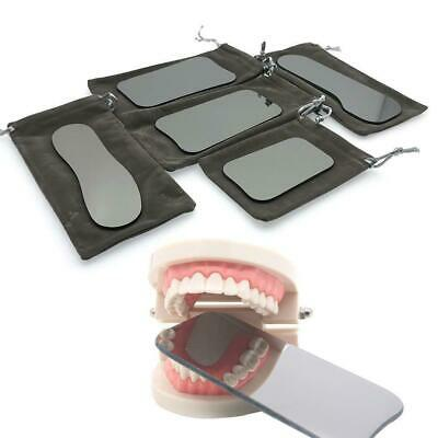 5* Dental Intraoral Orthodontic Pographic Glass Mirror 2-sided Rhodium-uk