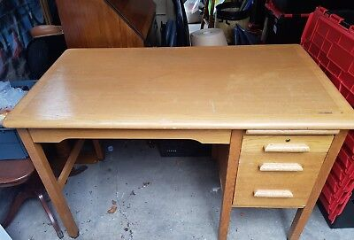 Abbess Fixed Pedestal Vintage Desk
