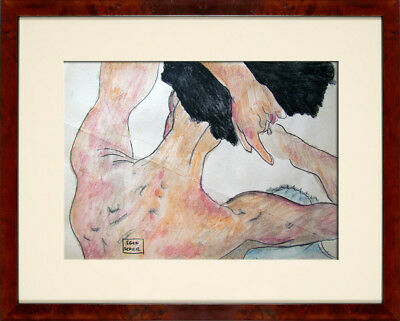 @@@ Egon Schiele @@@ Old Watercolor !!!