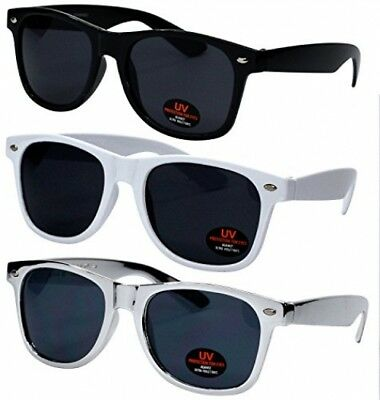 Wayfarer Sunglasses for Men, Women and Kids by Ray Solée- 3 Pack Black,White