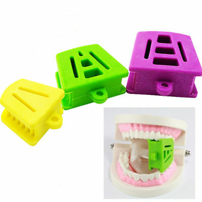 10Pcs Dental Bite Block Retractor Opener Silicone Mouth Props Occlusal Pad