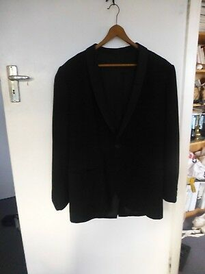 Vintage retro 1950s black wool Tuxedo mens dinner suit tailored in Newcastle NSW