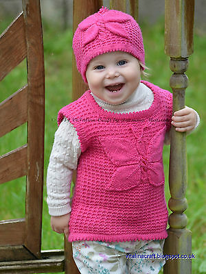 Knitting Pattern - Lady Butterfly Vest (Baby and Child sizes)
