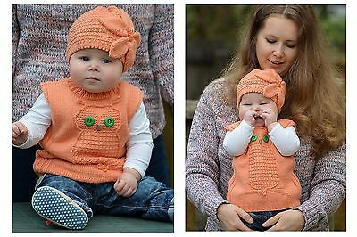 Knitting Pattern - Wise Owl Baby Vest (Baby sizes)