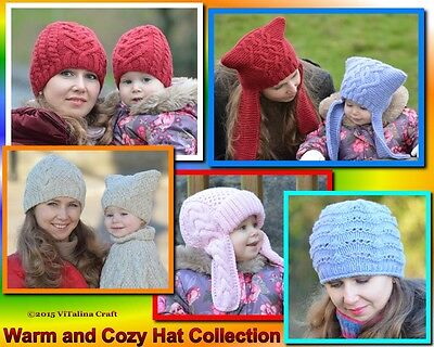 Knitting Patterns - Warm and Cozy Hat Collection