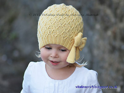 Knitting Pattern - Sunny Autumn Hat (Baby, Child and Adult sizes)
