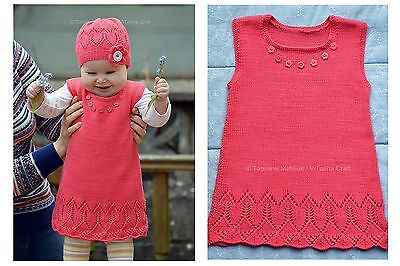 Knitting Pattern - Coralline Flower Tunic (Baby and Child sizes)