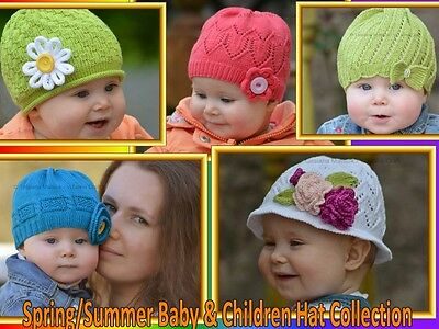 Knitting Patterns - Spring/Summer Baby & Children Hat Collection