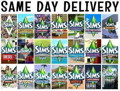 THE SIMS 3 and Expansion Packs PC / Mac Download - £2 99