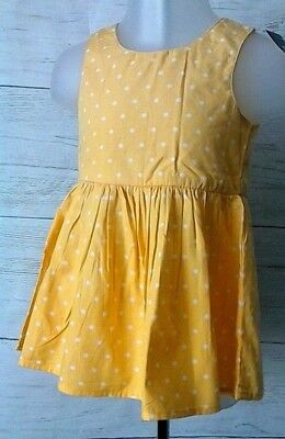 BNWT Next Baby Girls Cotton Dress Yellow & White Spotted 3-6 months