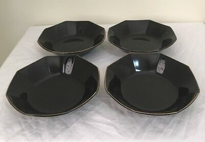 Bowls X 4 Cereal Soup MYSTIQUE Octagon Shaped Made In Japan Very good condition