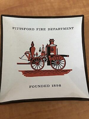 Pittsford NY Fire Department Old Ashtray Never Used.