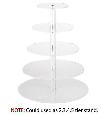 """5 Tier Cupcake Tree Tower Stand Yestbuy Maypole Round Acrylic 16"""" Party Display"""