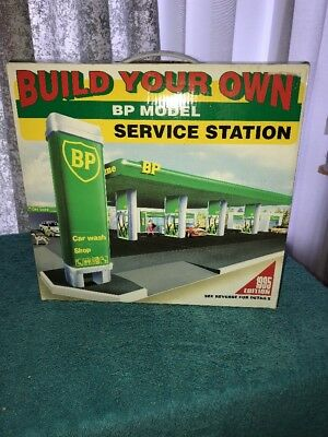Build Your Own Bp Model Service Station  Snap Together -New Still Factory Sealed