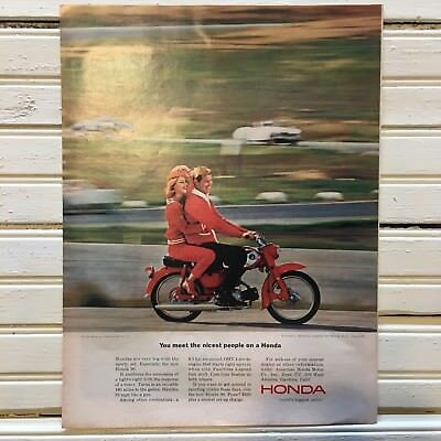 "1964 Honda Advertisement ""You Meet The Nicest People on a Honda"""