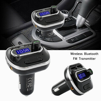 New Bluetooth Car Kit Wireless FM Transmitter Dual USB Charger MP3 Audio Player