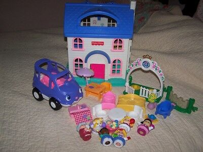 1996 Fisher Price Little People Doll House 2511 W Furniture And