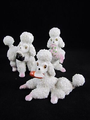3 Vintage Sugar Texture Spaghetti Pink Poodles Slipper~ Purse~ Hobo Bag~Japan