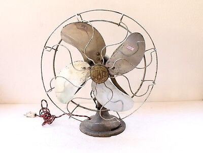 Vintage Brass Limit Trade Mark Fan Electronic British Patent , England NH4768