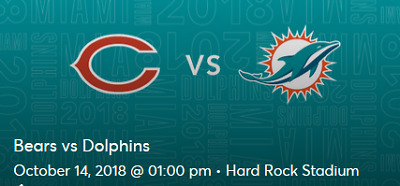 Image result for Bears vs.Dolphins  2018