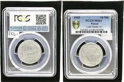 10 Mark 1943  Polen / Getto Litzmannstadt  f. prfr., kl. Flecken PCGS MS61