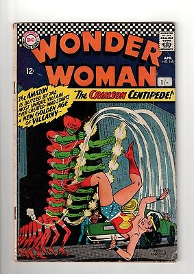DC Comics  169 WONDER WOMAN 1967  fn- 5.0  THE CRIMSON CENTIPEDE