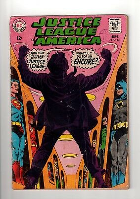 DC Comics  JUSTICE LEAGUE OF AMERICA  # 65 1968 VG 3.0