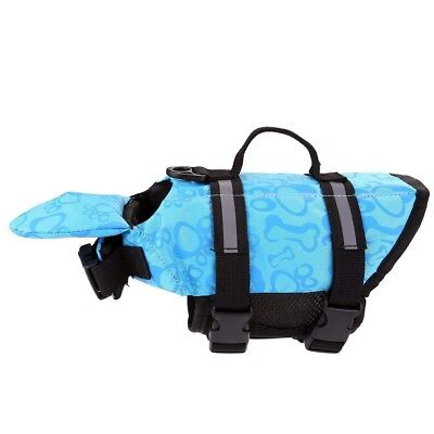 Size XS Blue Dog Life Jacket Vest Preserver for Dogs 4.4 - 8.8 lbs - Pool Boat