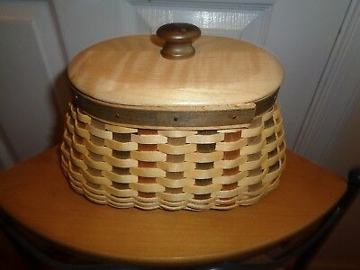 Longaberger    American Craft Fireside Basket Combo Unique Weave Colors