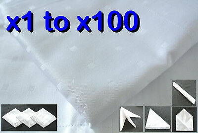 White Napkin 50/50 Cotton/Poly Fabric Cloth Linen Party Wedding Dining Hotel