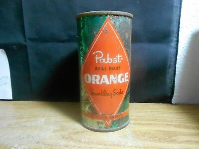 Vintage Pabst Orange Flat Punch Top 10 Oz. Pop Soda Brewery Milwaukee Wisconsin