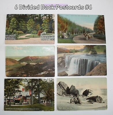 Lot of 6 Divided Back Postcards All Different  Lot #6